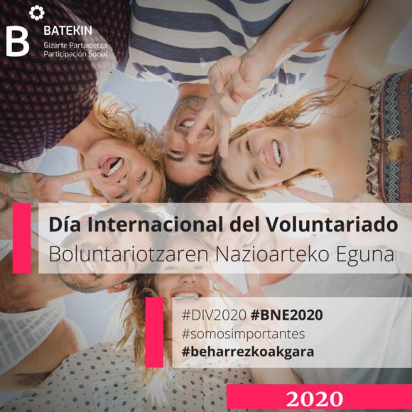 DIV 2020. ¡Somos importantes! Beharrezkoak gara!