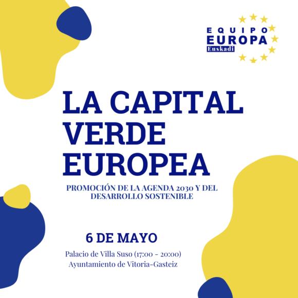 Jornada 'La Capital Verde Europea: Promoción de la Agenda 2030 y del desarrollo sostenible'